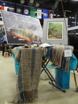 The theme for our shawl was Pennsylvania Brook Trout.