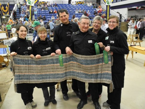 The Dream Weavers (Molly, Joanna, Wayne, Jack, Francie, and Abby) took fifth place. Good for a green ribbon!