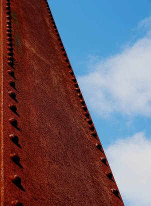 Vertical element and blue sky.