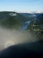 Brocken spectre above the Susquehanna.