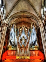 Pipe organ at the Cathédrale Saint-Pierre, Geneva.