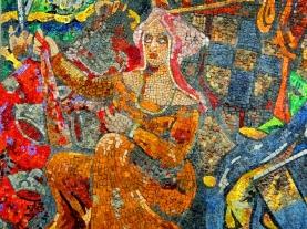 Mosaic frescoe at the Old Arsenal, Geneva.