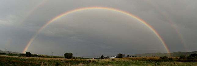 A full (double) rainbow at the end of a satisfying day.