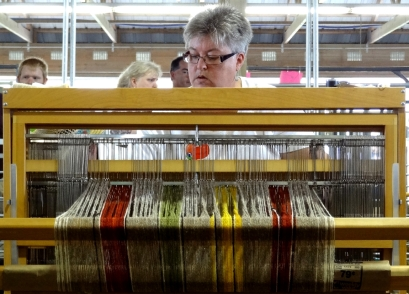 Weaving requires lots of concentration.