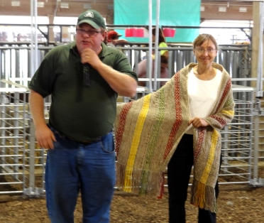 Our shawl at auction.
