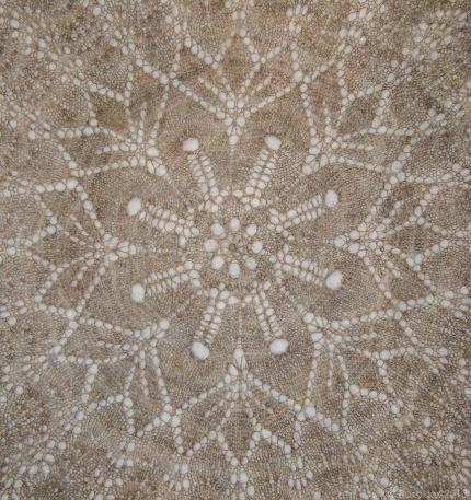Central motif under interior light.