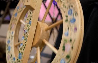 Beautiful spinning wheel.