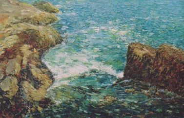 Childe Hassam, Surf and Rocks , 1906